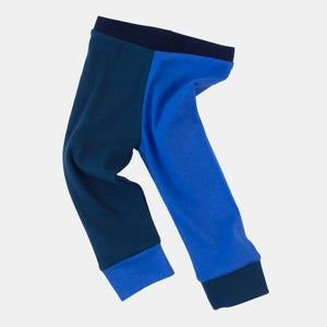 Image of Organic Cotton Jester Leggings -  Sky+Emerald or Hot Pink+Highlighter
