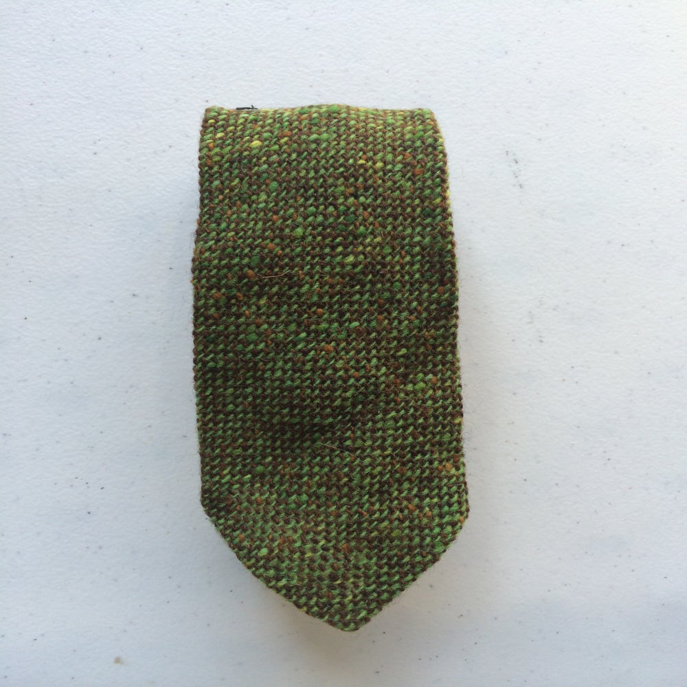 Image of Green Speckled Tweed Tie