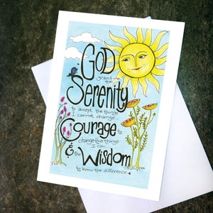"Image of Card ""Serenity Prayer - Sun"""