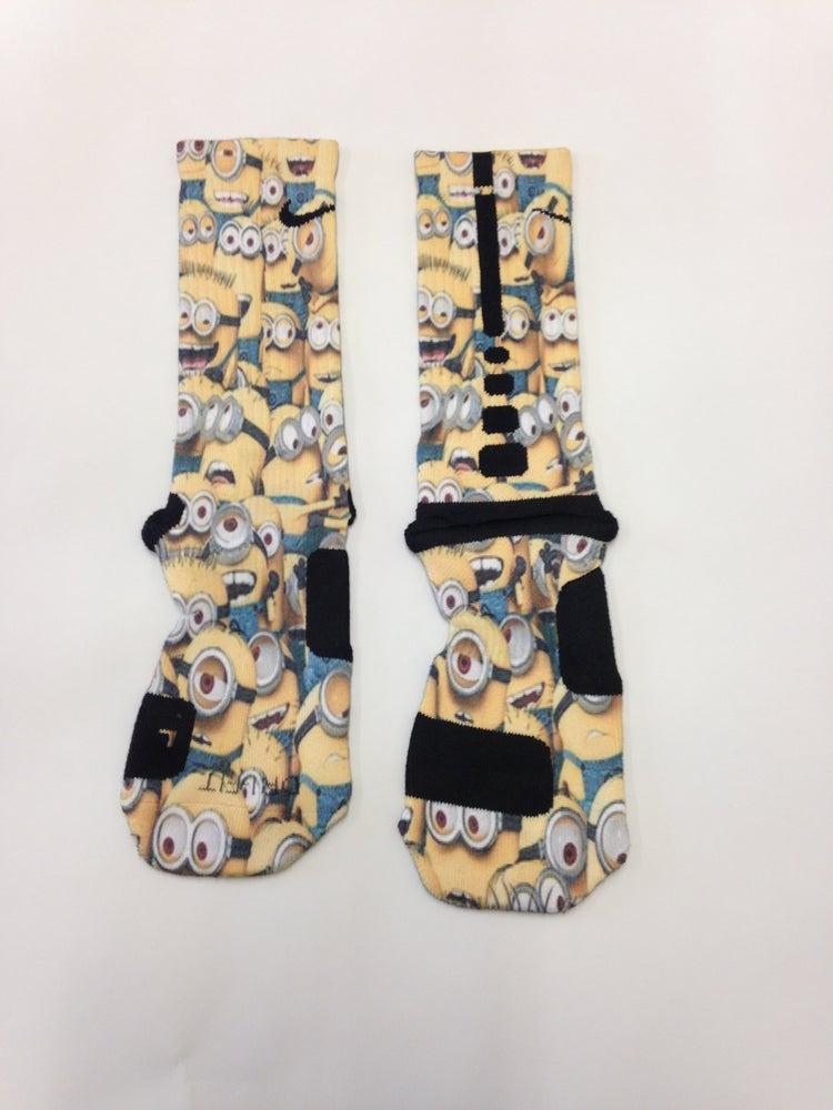 Image of Despicable Me Custom Nike Elite Socks