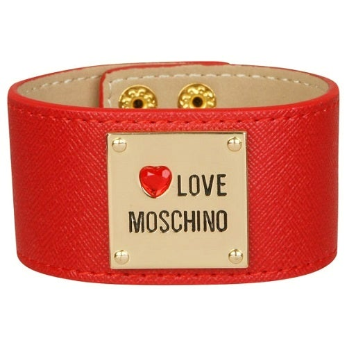 Image of SOLD OUT AUTHENTIC Moschino Leather Cuff Bracelet - Brand New
