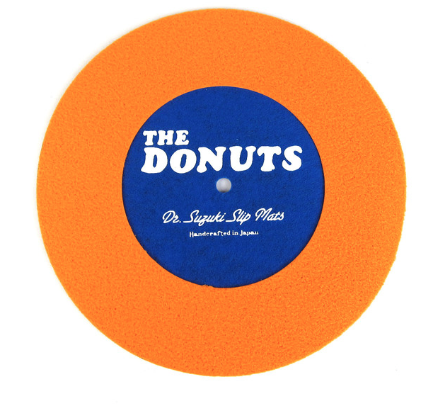 "Image of DR. SUZUKI THE DONUTS 7"" SLIPMATS - ORANGE/BLUE"