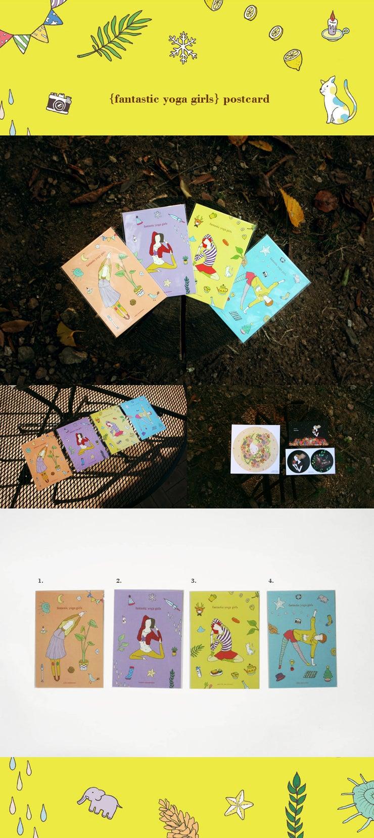 Image of {fantastic yoga girls} post card