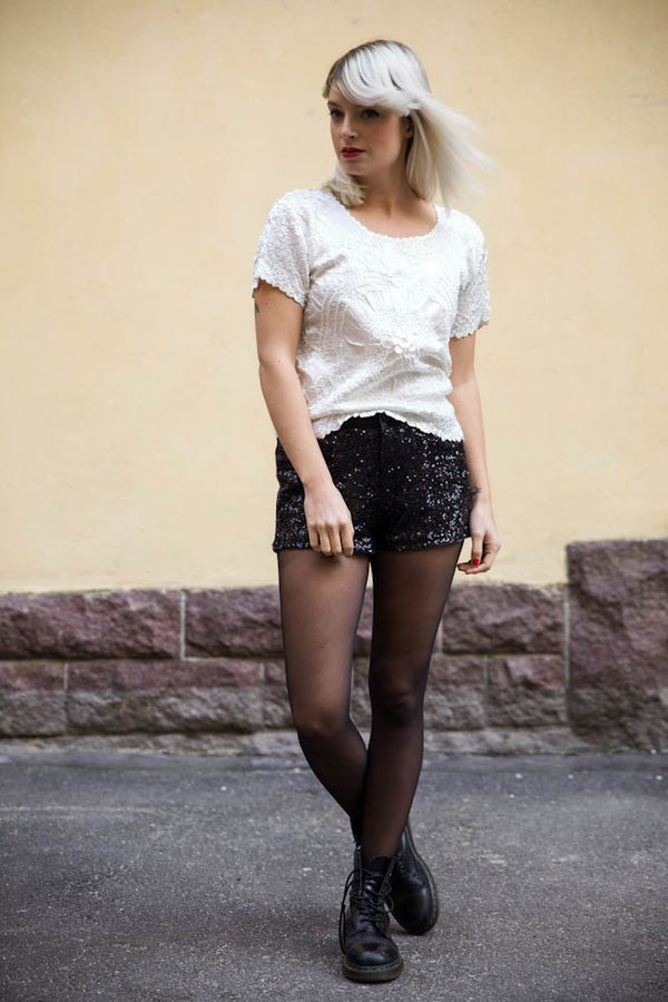 Image of Vintage Sequin Disco Shorts
