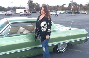 Image of Ladies Skull sweater cardigan