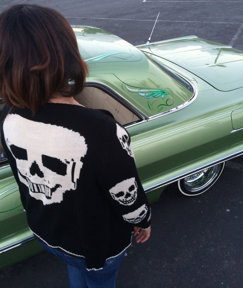 Image of Ladies Skull sweater cardigan