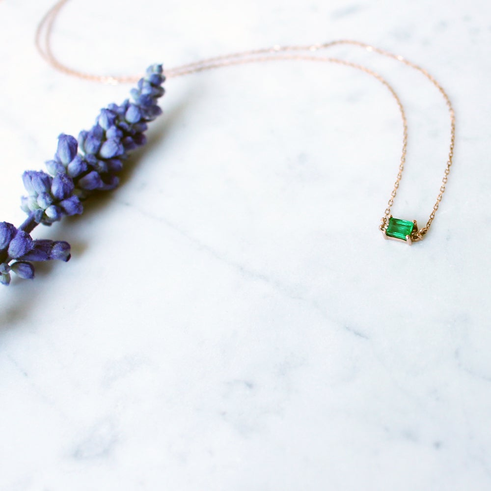 Image of Mini Sparkling Emerald Necklace