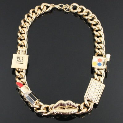 Image of MAKE UP FASHION CHAIN NECKLACE