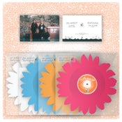 "Image of DK060: Nai Harvest / Playlounge - Flower Split 12"" Shaped EP - Blue /350, Orange /500, Pink /500"