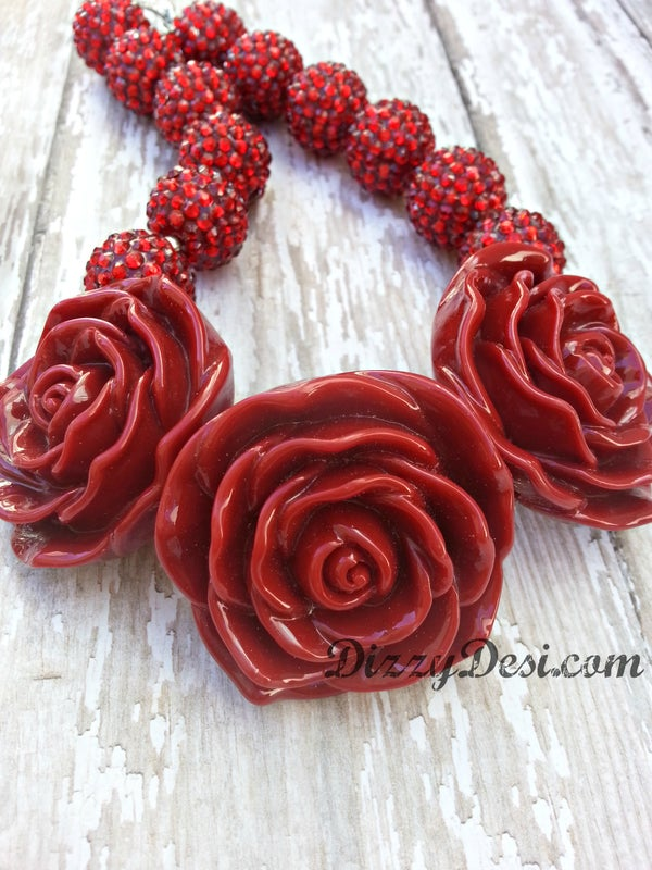 Image of Flower Glam Deep Red