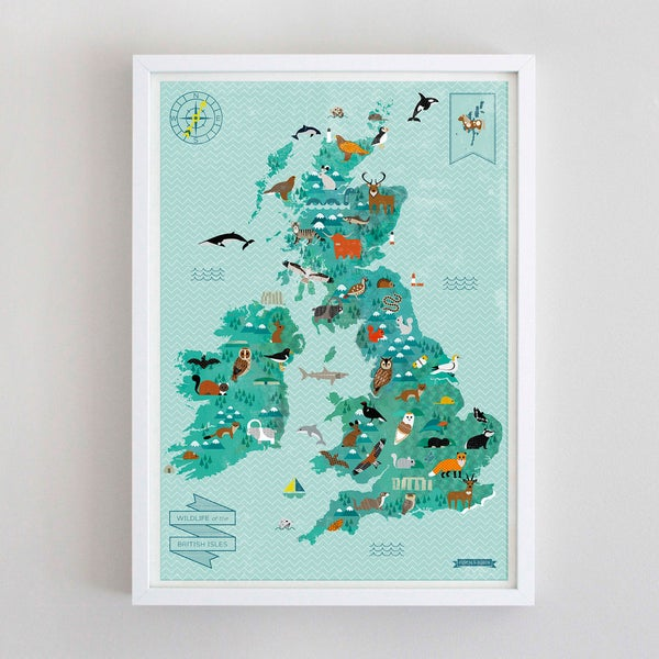 Image of A2 Wildlife of the British Isles Map