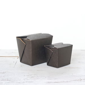 Image of Black Kraft Noodle Box