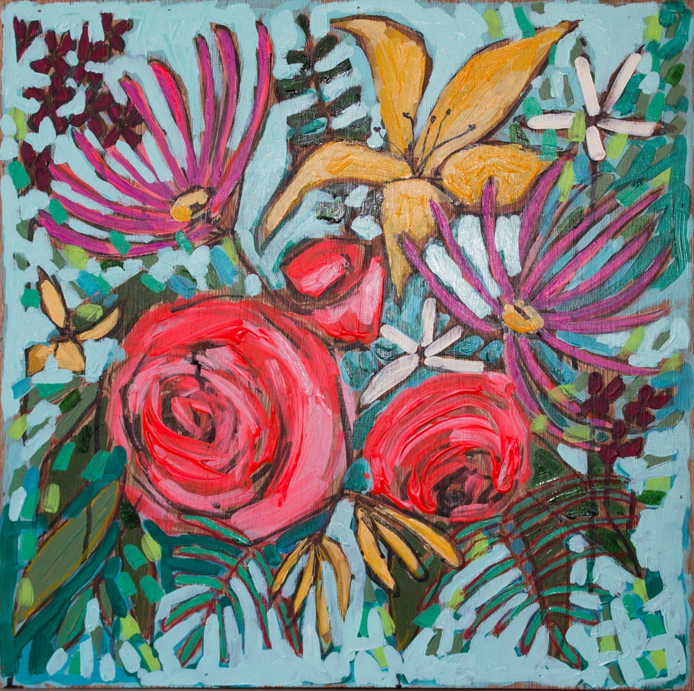 "Image of flowers for demi 20""x20"""