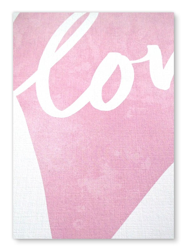 Image of Love Heart art print - Dusky Pink