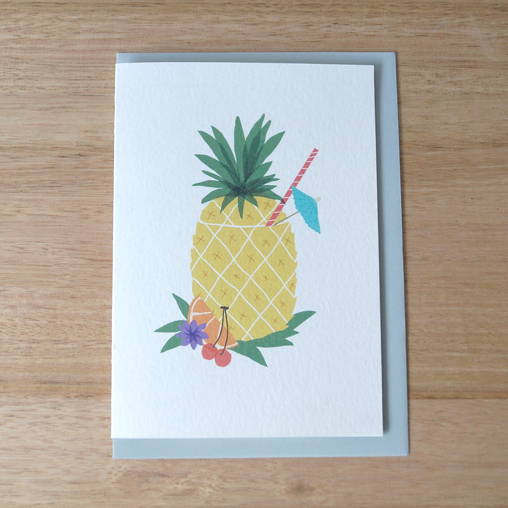 Image of Pineapple Cocktail Greeting Card
