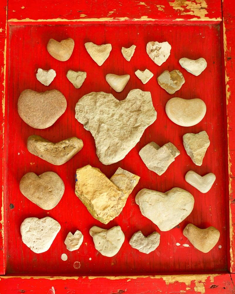 Image of Heart Rocks Canvas Wrap