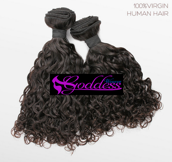 Image of 2 & 3pcs Gold Best quality  Malaysian Virgin remy human hair wet and wavy