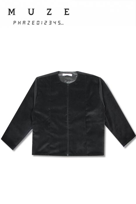 Image of ANGORA WOOL BOMBER JACKET(BLACK)