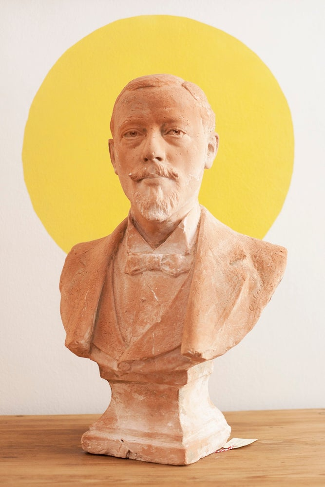 Image of Busto terracota y yeso Jean-Georges ACHARD /Francia, hacia 1900