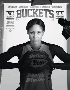 Image of BUCKETS: 2014 Review / 2015 Preview -- Maya Moore Cover.