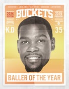 Image of BUCKETS: 2014 Review / 2015 Preview -- Kevin Durant Cover.