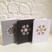 Image of Set of Six Snowflake Christmas Cards