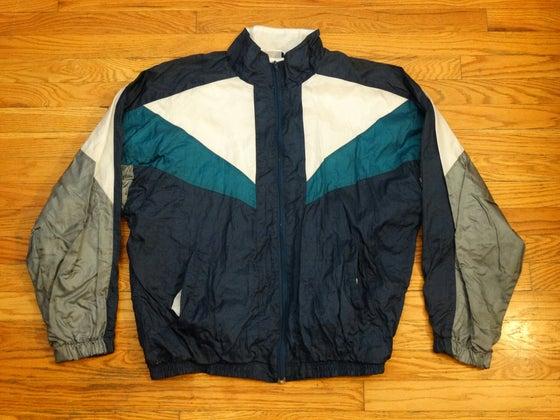 Image of (L) Men's 80's Multicolored Sport Windbreaker