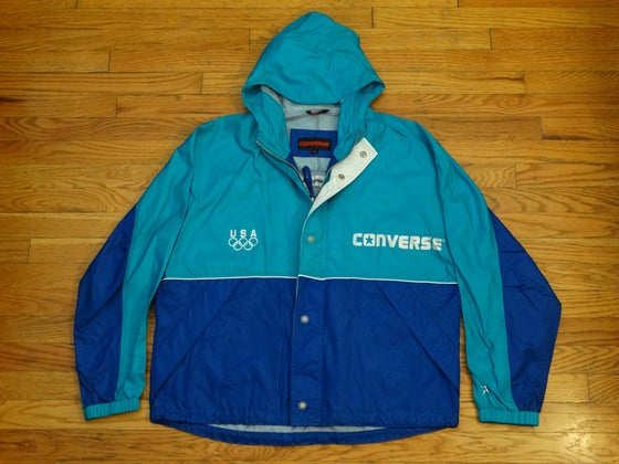 """Image of (L) Deadstock Converse """"USA Olympic Edition"""" Two-Toned Windbreaker"""