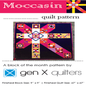 Image of Moccasin Block of the Month Club 2015 - Hard Copy Paper
