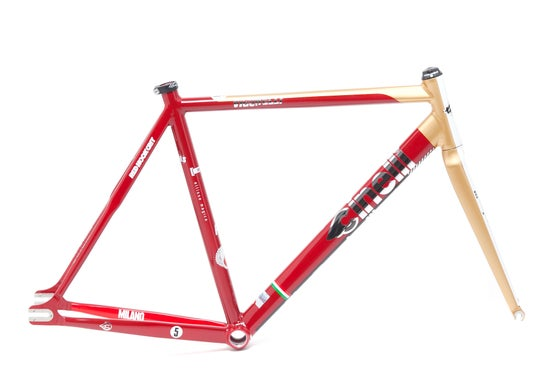 Image of Cinelli Vigorelli Red Hook Crit Milano Special Replica Frame-Kit Limited Edition