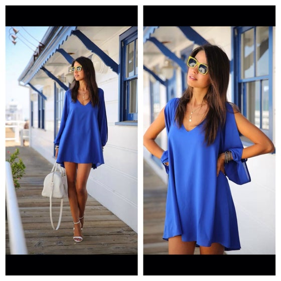 Image of Blue shift dress
