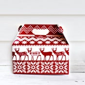Image of Red Knit Gable Box