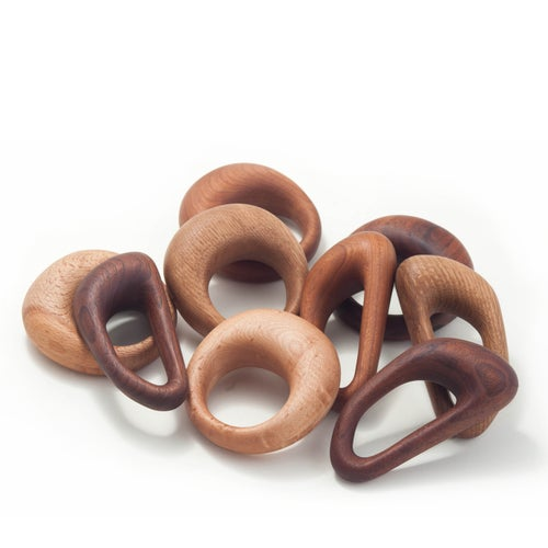 Image of Round Walnut Rattle