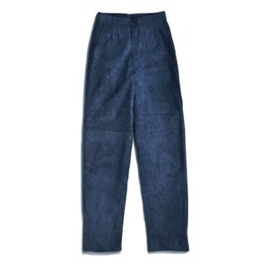 Image of 80s SUEDE HIGH WAIST TROUSERS