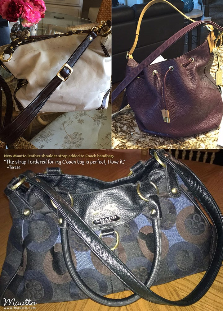 Image of Custom Replacement Straps & Handles for Coach Handbags/Purses/Bags