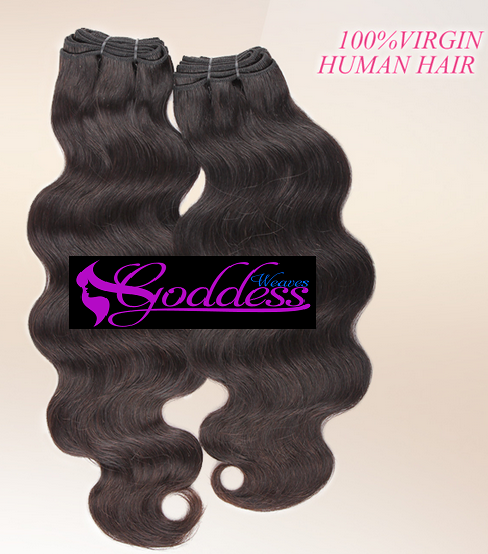 Image of 2pcs Gold 100% Virgin Peruvian human hair weft , best quality