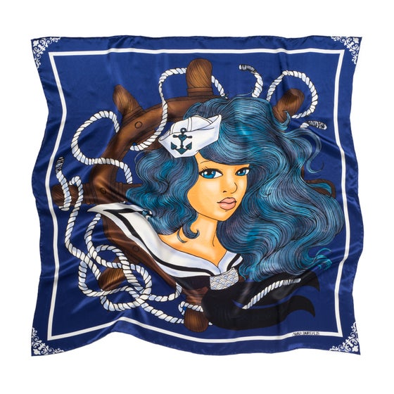 Image of Arlen - Graphic Silk Scarf