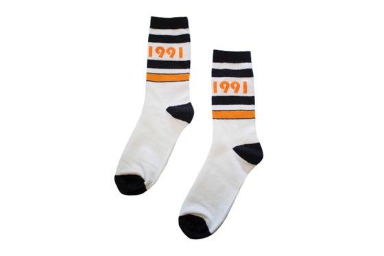 Image of Originator Socks (Blk/Gld/Wht)