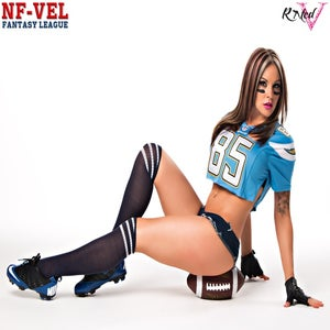 Image of Velvet Sky San Diego Chargers Fantasy Football 18x24 poster
