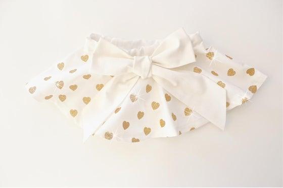 Image of Gold Glitter Heart Twirl Skirt