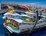 Image of Victoria Harbour Ferries 8x10 Photographic Print