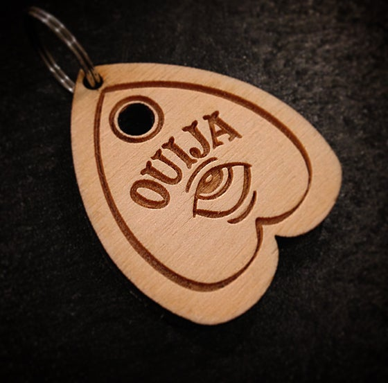 "Image of ""Ouija Planchette"" Keychain By Smuttywood"