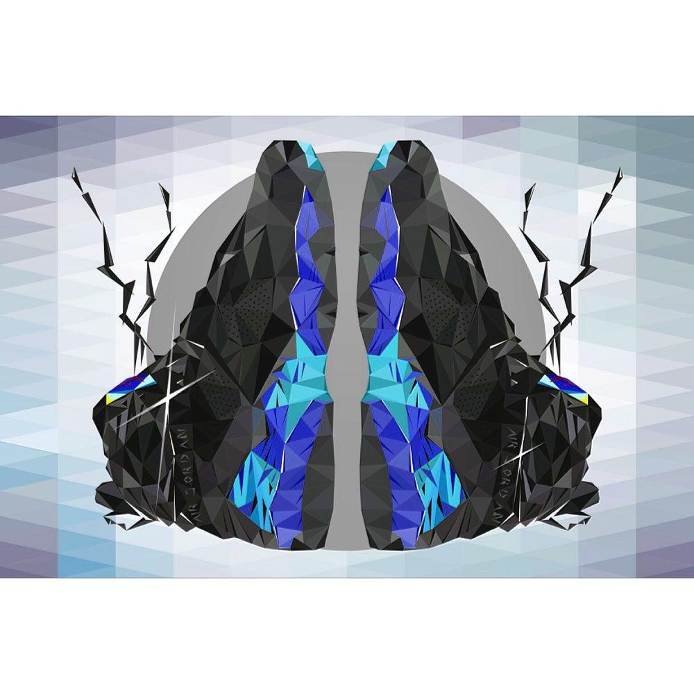"""Image of 24""""x36"""" Jordan Aqua 8 digital poster print"""