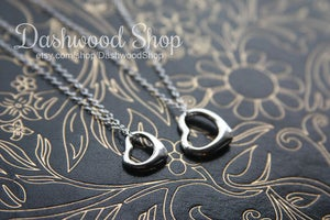 Image of Mommy & Me matching  HEART necklaces, Best Friends, Teachers, Bridesmaids
