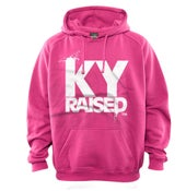 Image of KY Raised Pink / White Hooded Sweatshirt