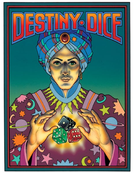 """Image of """"DESTINY DICE"""" FORTUNE TELLING GAME - FALL 1987"""