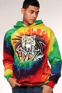 Image of Wolf Spirit / Hoodie - Tie Dye