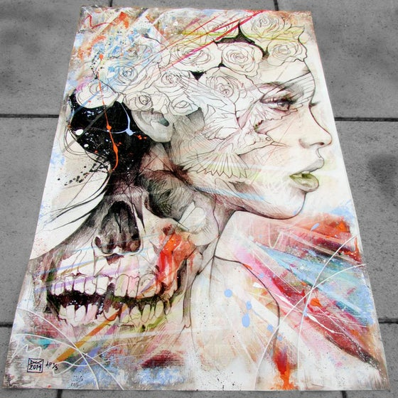 """Image of """"Opposites Attract"""" Hand Embellished Limited Edition Print SOLD OUT"""