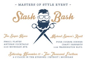 Image of Mustache Bash - Invitation (Movember)