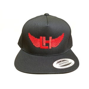 Image of Classic LH Wings SnapBack Hat (Red On Black)